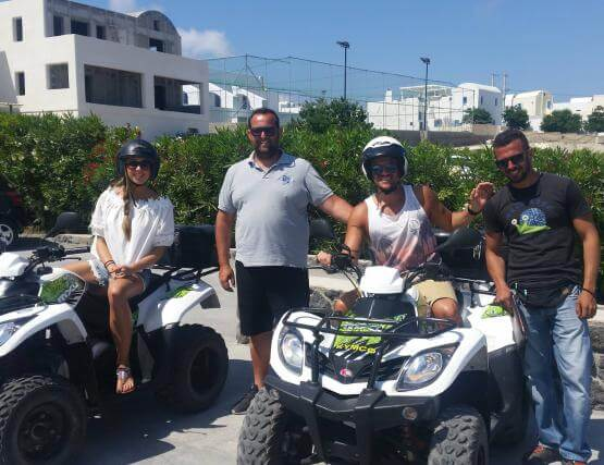 quad bike santorini